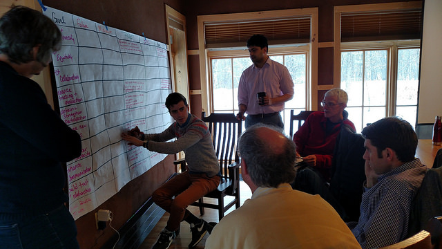 Wisconsin State Table Members Co-creating a shared vision